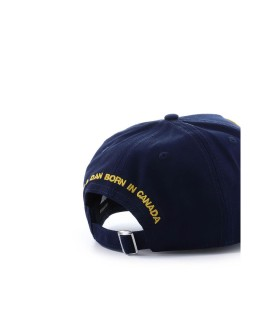 CAPPELLO DA BASEBALL PATCH NAVY DSQUARED2