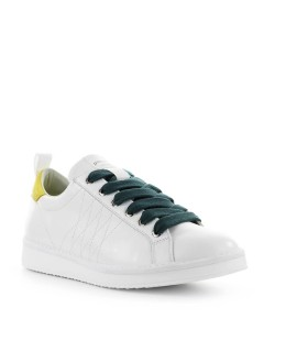 PÀNCHIC WHITE YELLOW LEATHER SNEAKER