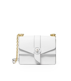 MICHAEL KORS GREENWICH WHITE CROSSBODY BAG