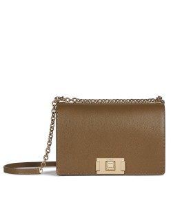 FURLA MIMI' MUD CROSSBODY BAG