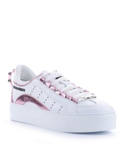 DSQUARED2 551 BOX SOLE WHITE PINK SNEAKER