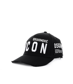 CAPPELLO DA BASEBALL ICON IBRAHIMOVICxDSQUARED2 NERO DSQUARED2