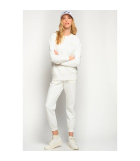 PINKO CARICO WHITE COTTON JOGGERS