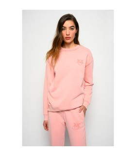 PINKO SANO PINK COTTON SWEATSHIRT