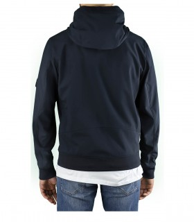 C.P. COMPANY SHELL R NAVY BLUE HOODED JACKET