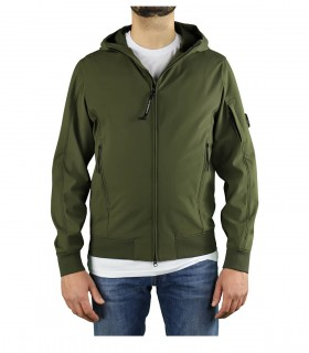 C.P. COMPANY SHELL R MILITARY GREEN HOODED JACKET