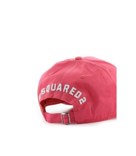 DSQUARED2 ICON DARK PINK BASEBALL CAP