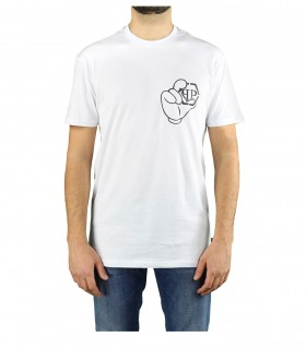 PHILIPP PLEIN SS ICONIC PLEIN WHITE T-SHIRT