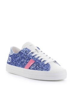 D.A.T.E. HILL LOW GLITTER LIGHT BLUE SNEAKER