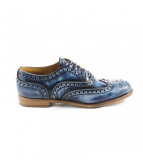 CHURCH'S BURWOOD 3W BLAUW VETERSCHOENEN
