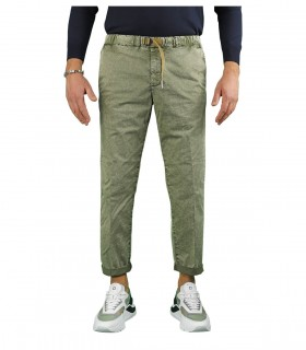 WHITE SAND SAGE GREEN CHINO TROUSERS