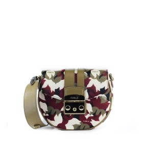 FURLA METROPOLIS ROUND MINI MULTICOLOR CROSSBODY BAG