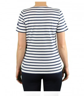 T-SHIRT ETRILLE II BIANCA BLU NAVY SAINT JAMES