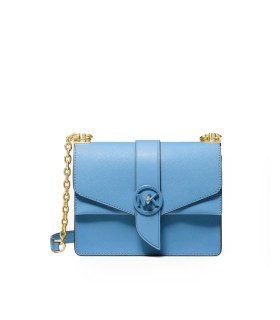 MICHAEL KORS GREENWICH LIGHT BLUE CROSSBODY BAG