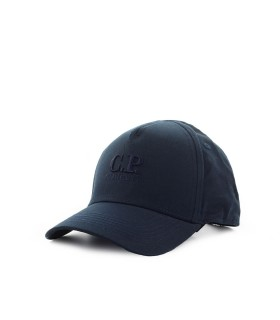 C.P. COMPANY NAVY BLUE BASEBALL CAP WITH LOGO