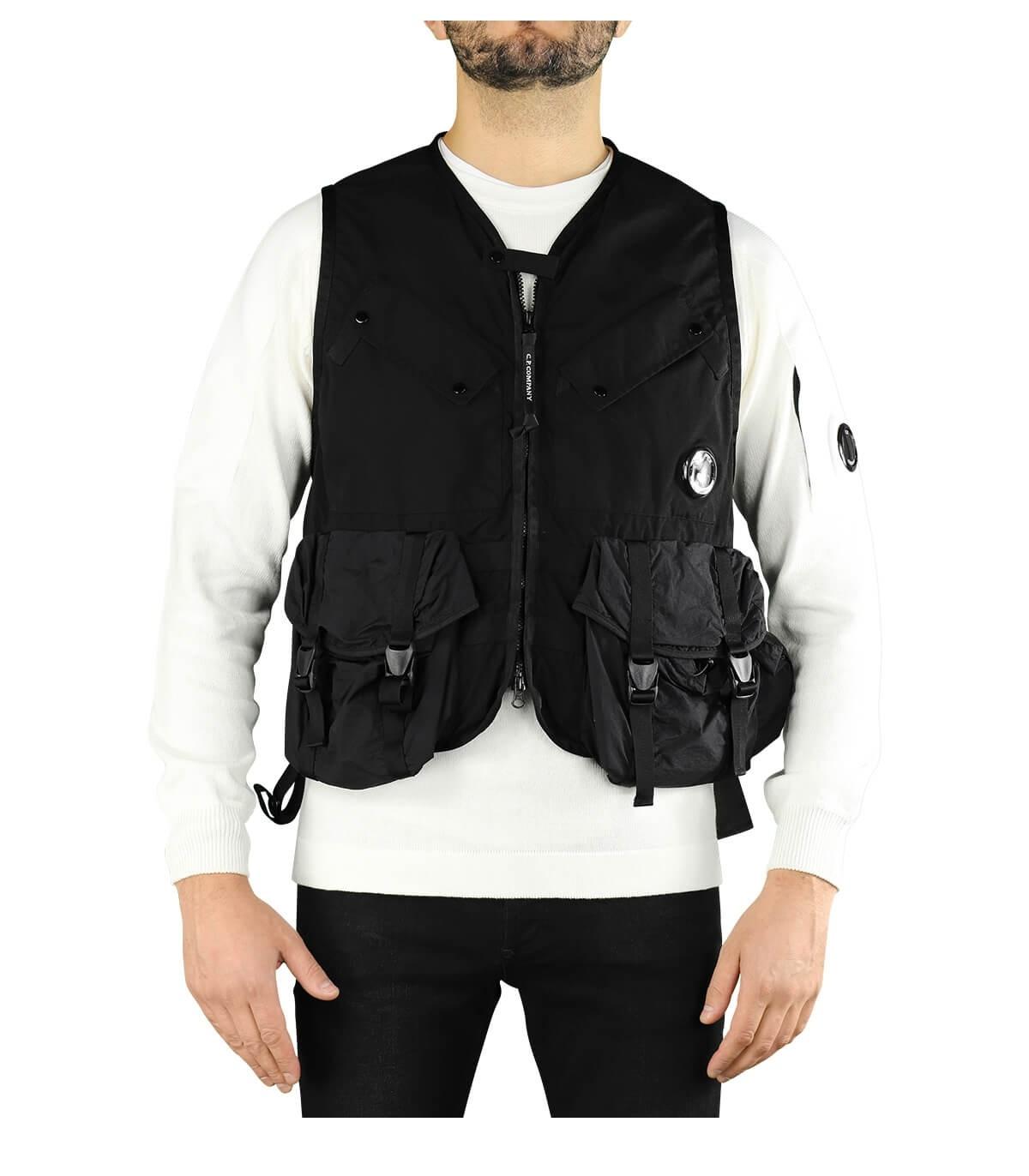 C.p. Company Vests TAYLON P BLACK VEST
