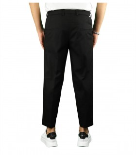 PAOLO PECORA BLACK CARROT FIT TROUSERS