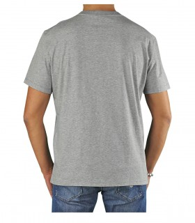 PAOLO PECORA GREY COTTON T-SHIRT