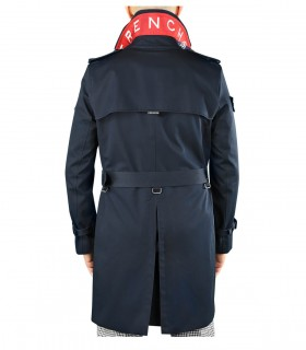 TRENCH LONDON THE KING CLASSIC MARINEBLAUW ROOD TRENCHCOAT