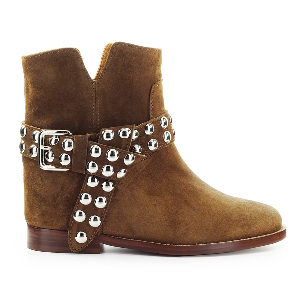Via Roma 15 Suedes VELOUR DARK BROWN ANKLE BOOT