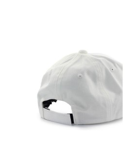 EMPORIO ARMANI WHITE BASEBALL CAP WITH MAXI LOGO