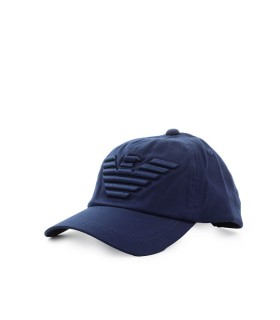 EMPORIO ARMANI NAVY BLUE EAGLE BASEBALL CAP
