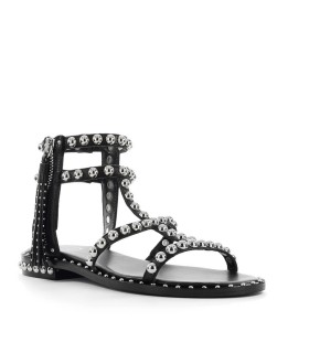 ASH POWER BLACK FLAT SANDAL