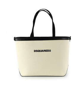 DSQUARED2 ECRU SHOPPERTAS