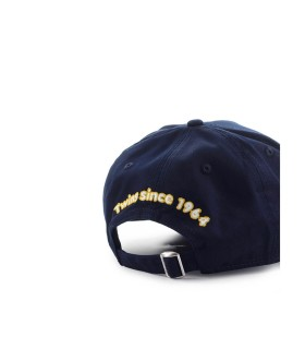 DSQUARED2 DSQ2 CANADA NAVY BLUE BASEBALL CAP