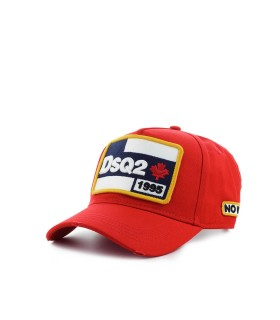 DSQUARED2 DSQ2 RED BASEBALL CAP