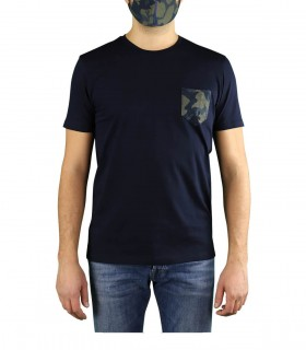 PEOPLE OF SHIBUYA MASK NAVY BLUE T-SHIRT