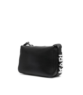 KARL LAGERFELD K/LETTERS BLACK SHOULDER BAG