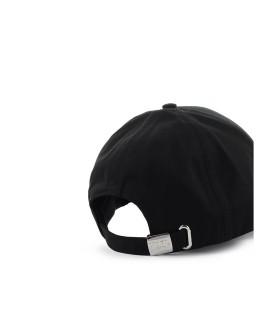 KARL LAGERFELD KARL ESSENTIAL LOGO BLACK BASEBALL CAP