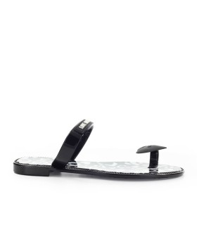 LOVE MOSCHINO WHITE BLACK FLIP FLOP