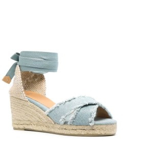 CASTAÑER BLUMA LIGHT BLUE ESPADRILLES WITH WEDGE