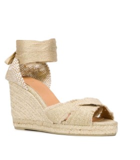 CASTAÑER BLUMA GOLD ESPADRILLES WITH WEDGE