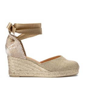 CASTAÑER CARINA GOLD ESPADRILLES WITH WEDGE