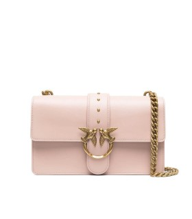 PINKO LOVE CLASSIC ICON SIMPLY 8 SOFT PINK CROSSBODY BAG