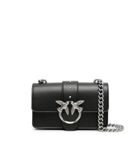 PINKO LOVE MINI ICON SIMPLY 9 BLACK CROSSBODY BAG