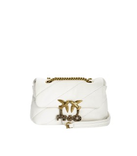 PINKO LOVE MINI PUFF JEWEL WHITE CROSSBODY BAG