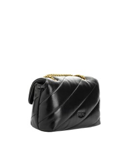 BORSA A TRACOLLA LOVE MINI PUFF JEWEL NERA PINKO