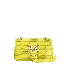 PINKO LOVE MINI PUFF ORIGAMI LIME GREEN CROSSBODY BAG