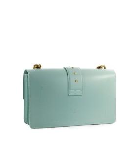 PINKO LOVE CLASSIC ICON SIMPLY 8 AQUA GREEN CROSSBODY BAG