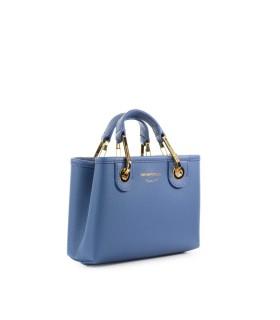 EMPORIO ARMANI MYEA LIGHT BLUE MINI SHOPPING BAG