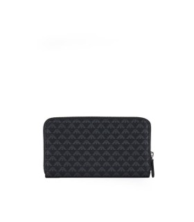 EMPORIO ARMANI MONOGRAM BLACK ANTHRACITE WALLET
