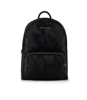 EMPORIO ARMANI CAMOUFLAGE BLACK BACKPACK
