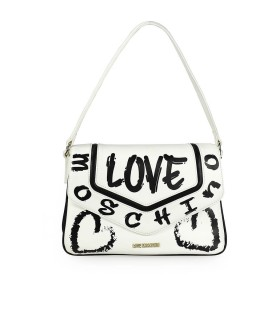 LOVE MOSCHINO GRAFFITI WITTE SHOUDERTAS