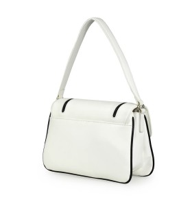 LOVE MOSCHINO GRAFFITI WHITE SHOULDER BAG