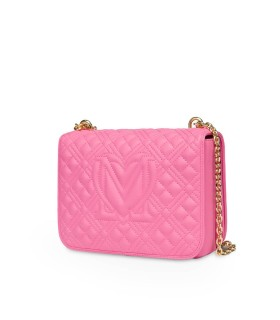 LOVE MOSCHINO QUILTED NAPPA PINK LARGE CROSSBODY BAG