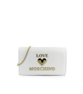 CLUTCH BLANCO LOGO LOVE MOSCHINO